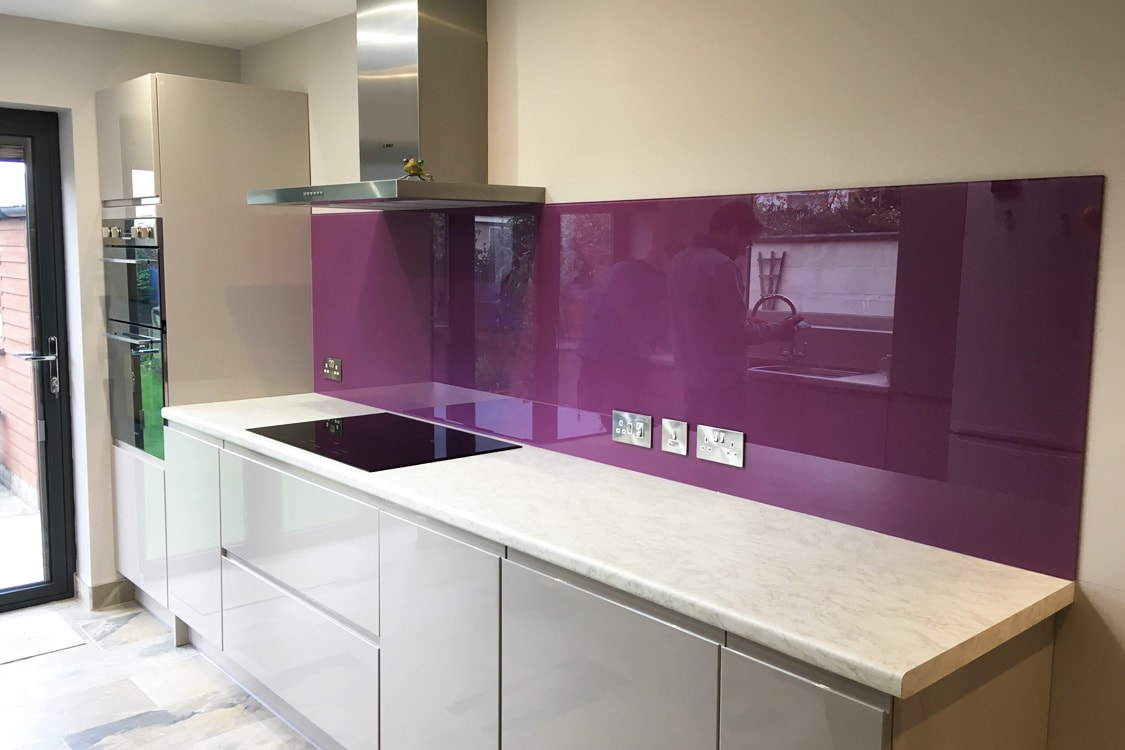 Purple Glass Splashbacks