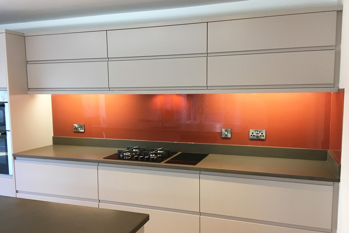 Farrow & Ball Picture Gallery Red No.42 Glass Splashback