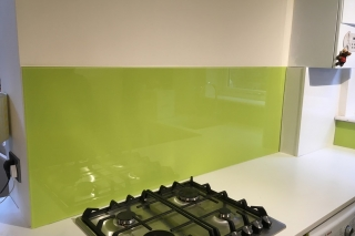 Dulux Luscious Lime Glass Splashback