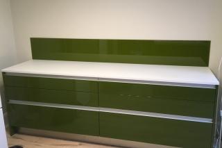 Moss Green Glass Splashback