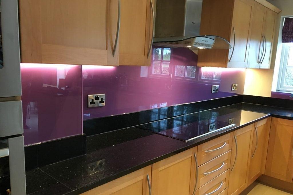 Valspar Vivacious Violet Glass Splashback Glass Splashbacks