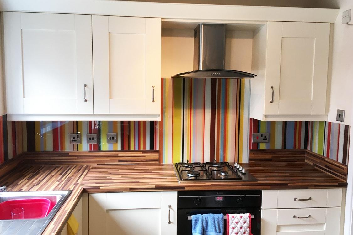 Paul Smith Straight Stripes Printed Glass Splashback