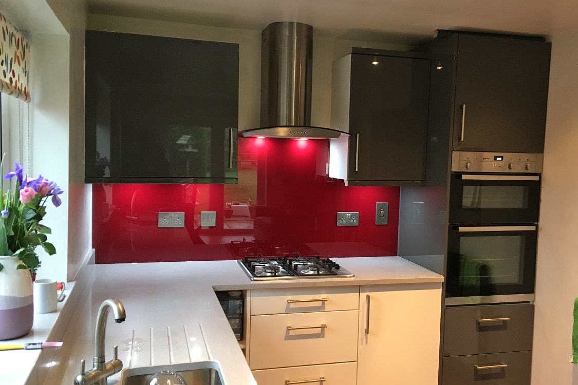 Wine Red Glass Splashback