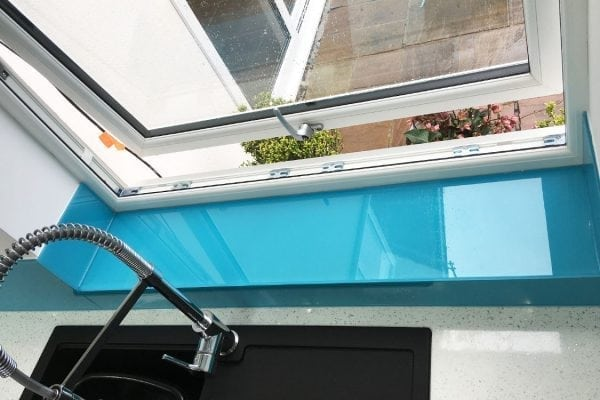 Toughened Glass Window Sill Coloured in Carolina Blue-min