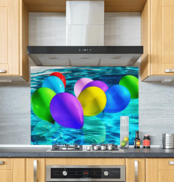 Balloons Glass Splashback