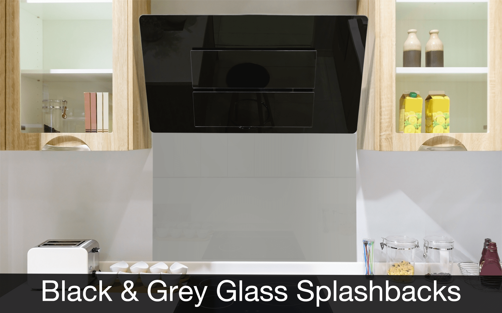 Black and Grey Glass Splashbacks