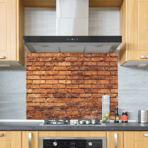 Brick Wall Glass Splashback