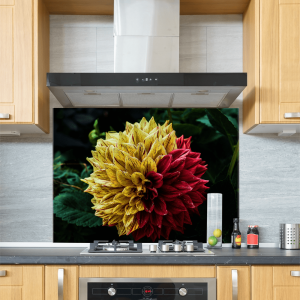 Bright Flower Glass Splashback