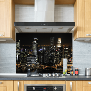 City Skyline Glass Splashback