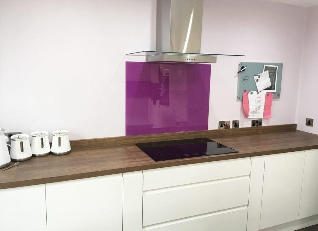 Dusky Orchid Glass Splashback Glass Splashbacks