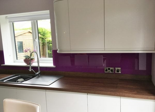 Dusky Orchid Kitchen Glass Splashback-min