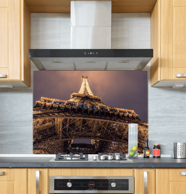 Eiffel Tower Glass Splashback