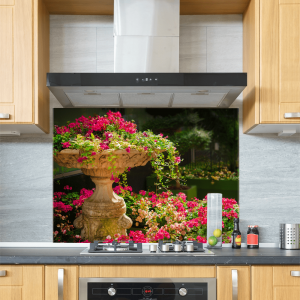 Flower Bed Glass Splashback