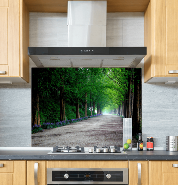 Forest Walkway Glass Splashback