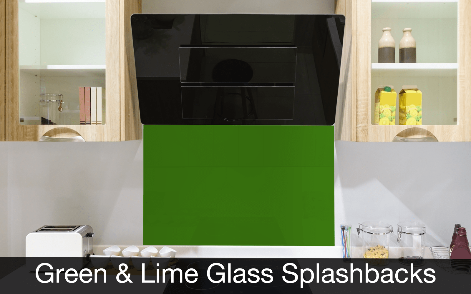 Green and Lime Glass Splashbacks