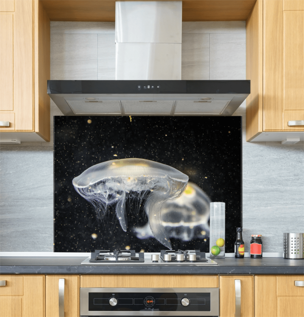 Jelly Fish Glass Splashback