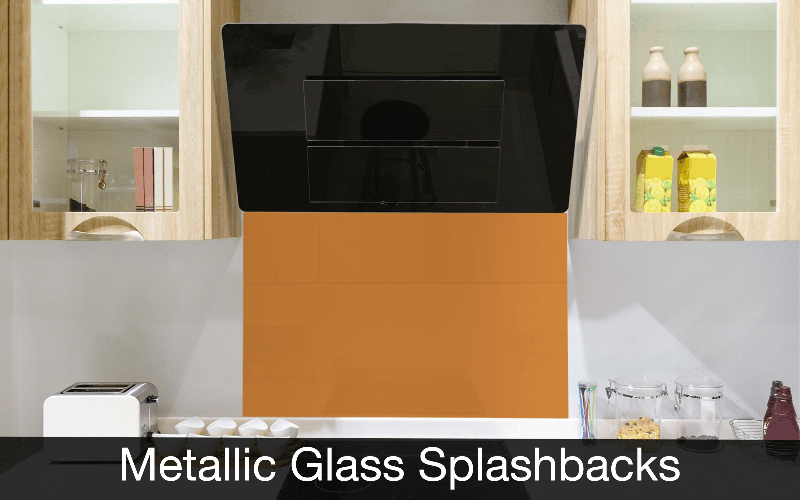 Metallic Glass Splashbacks