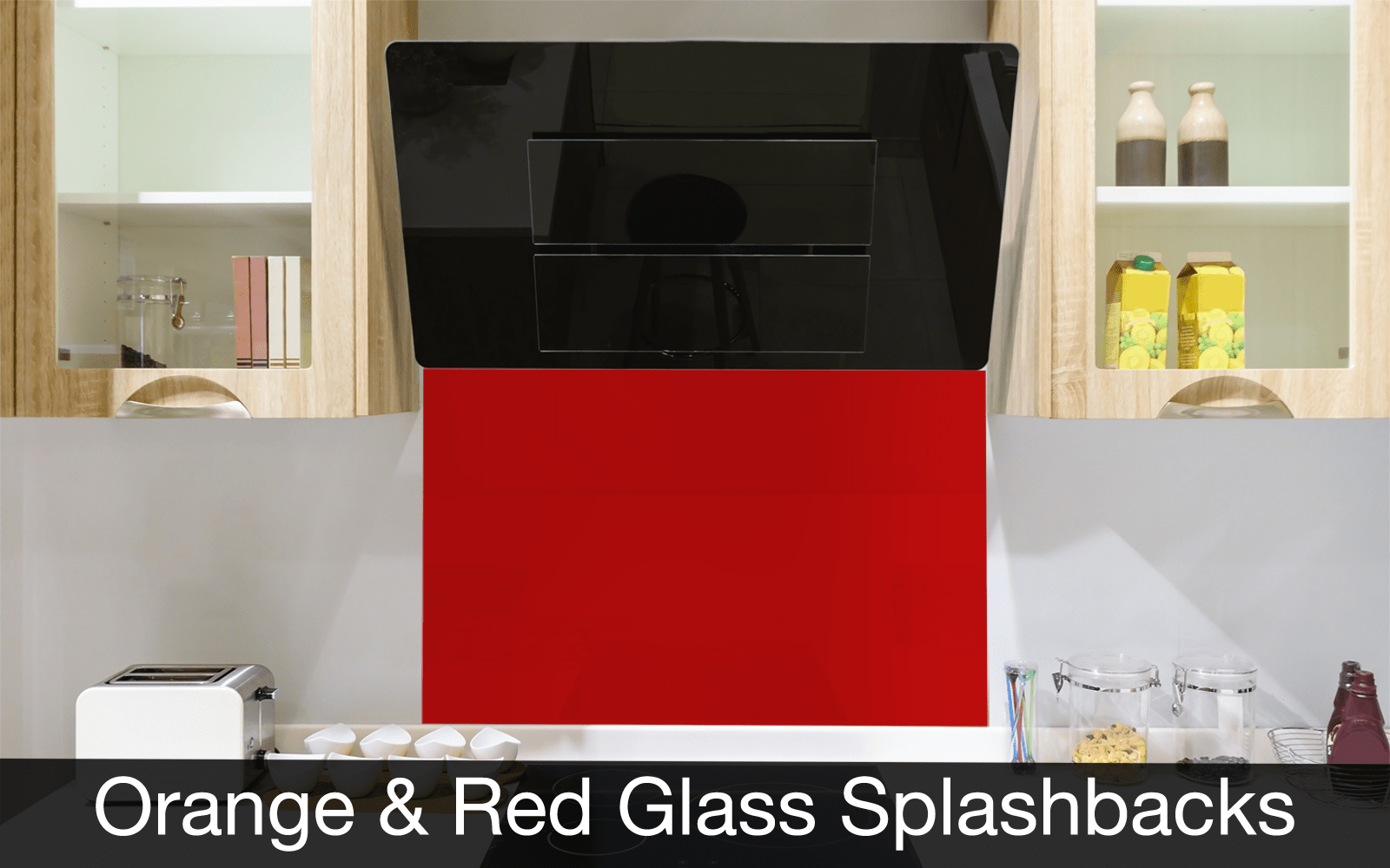Red and Orange Glass Splashbacks