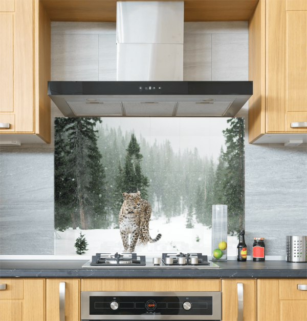 Persian Leopard Glass Splashback