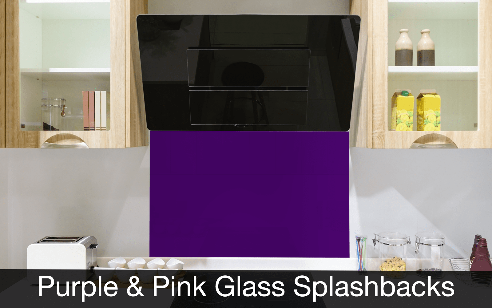 Purple and Pink Glass Splashbacks
