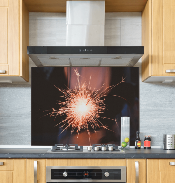 Sparkler Glass Splashback