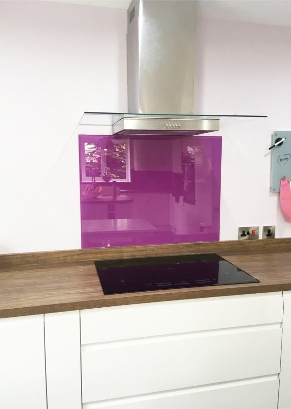 Toughened Kitchen Glass Splashback Coloured in Dusky Orchid-min