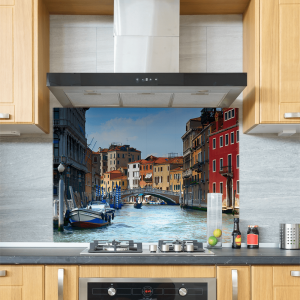 Venice Canal Glass Splashback