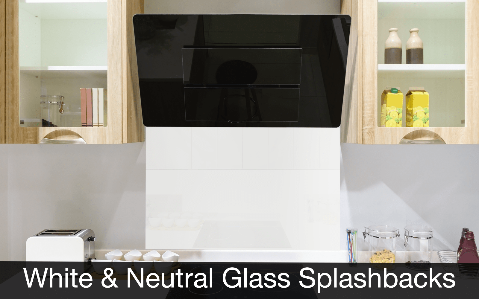 White and Neutral Glass Splashbacks