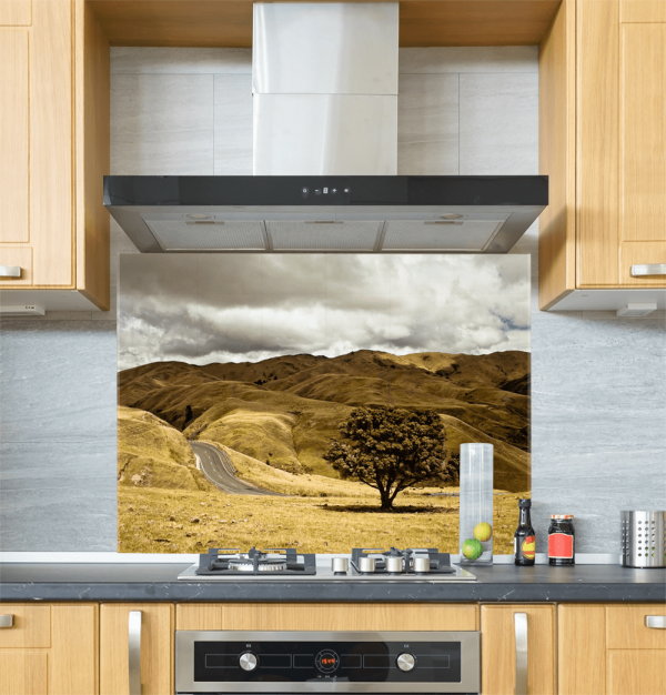 Yellow Fields Glass Splashback