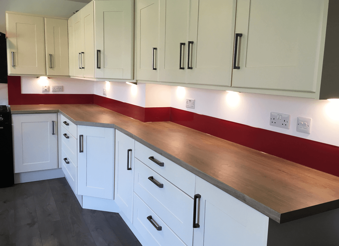 Farrow and Ball Rectory Red Glass Upstands