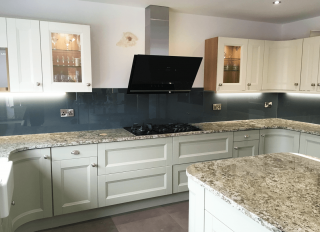 Farrow and Ball Downpipe Glass Splashback