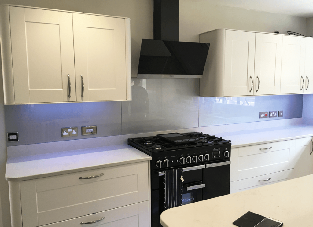 Titanium Glass Splashback Glass Splashbacks