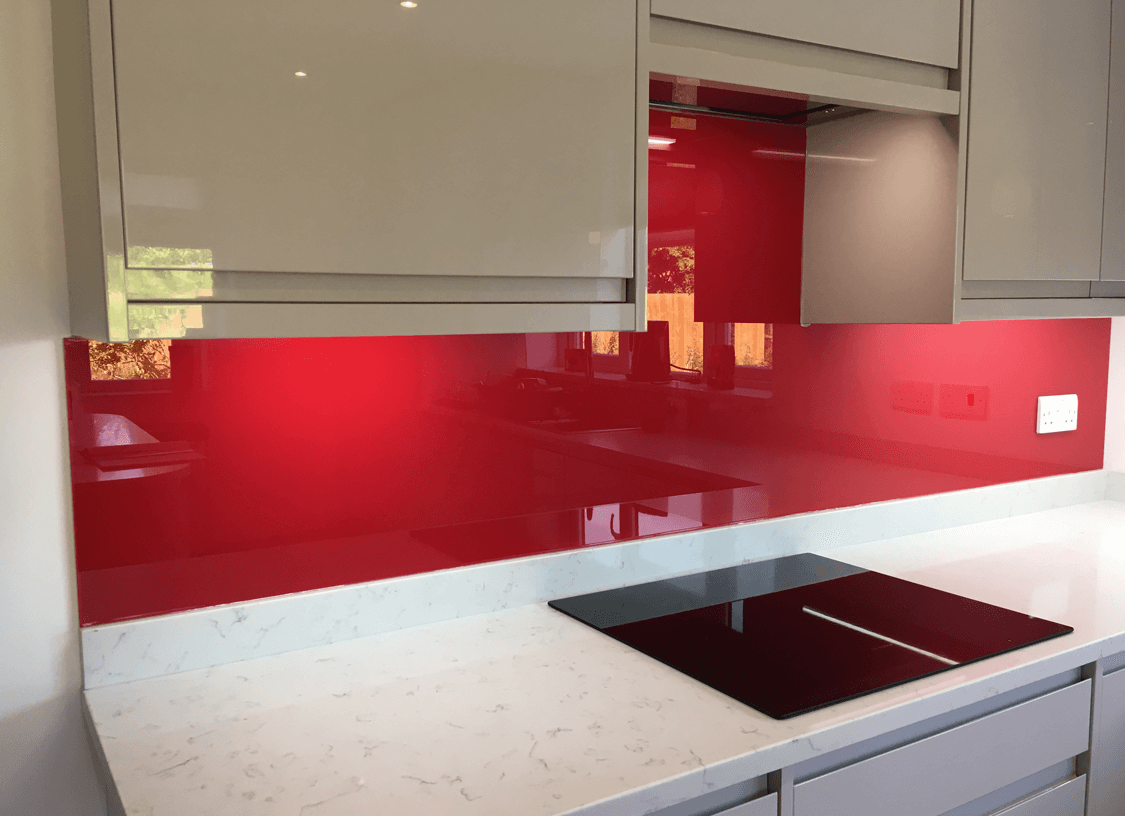 Valspar Pop of Poppy Glass Splashback