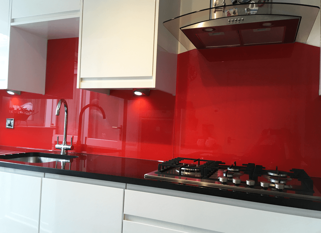 Traffic Red (RAL 3020) Glass Splashback