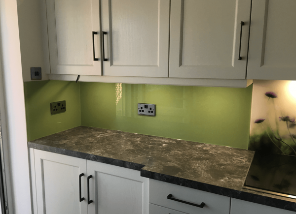 Farrow and Ball Yeabridge Green Toughened Glass Splashback