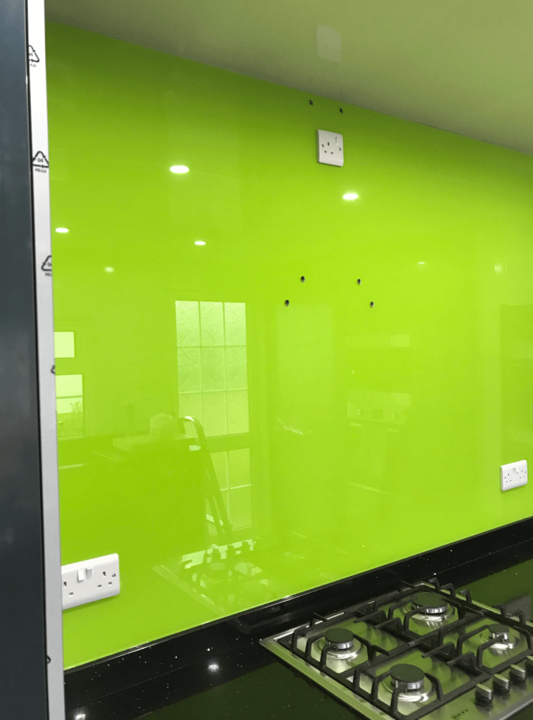 Lime No.3 Glass Splashback Glass Splashbacks