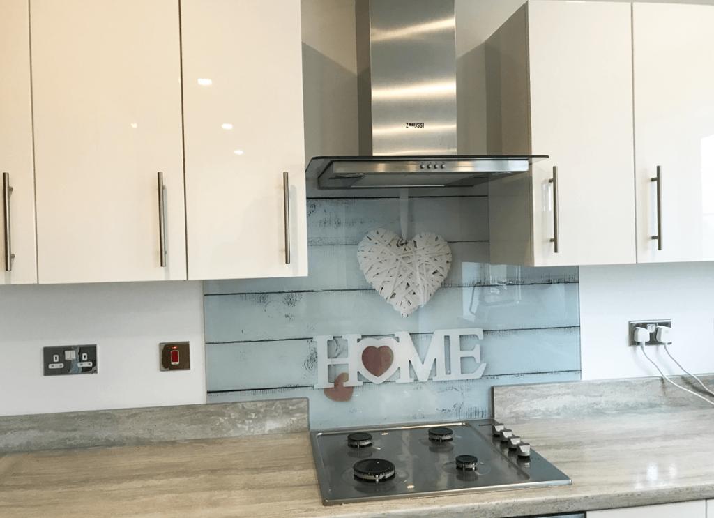 Home Design print Glass Splashbacks