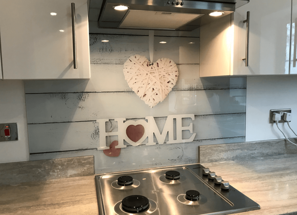 Home Design print Glass Splashbacks