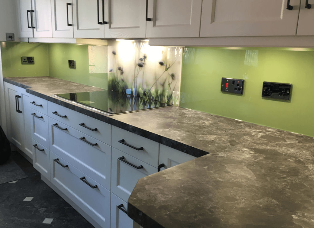 Farrow and Ball Yeabridge Green No.287 Glass Splashback Glass Splashbacks