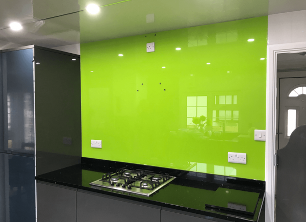 Lime No 3 Glass Splashback