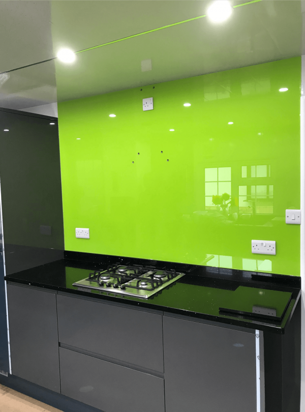 Lime No 3 Toughened Glass Splashback
