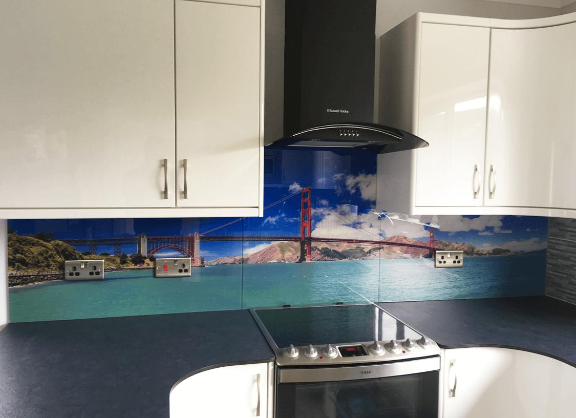 Golden Gate Bridge Printed Glass Splashback