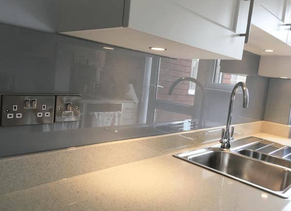 Titanium Kitchen Glass Splashback