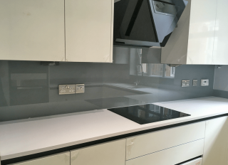 Black & Grey Glass Splashbacks Glass Splashbacks