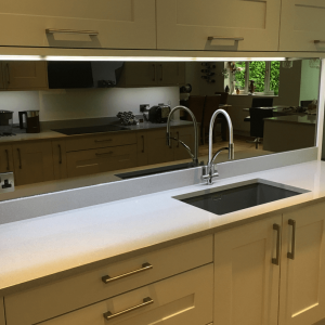 Glass Splashback made from Modern Bronze Mirror
