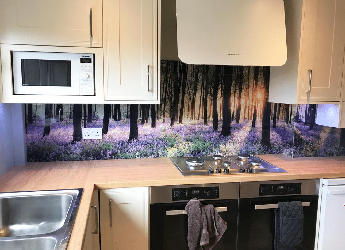Bluebell Woods Printed Glass Splashback