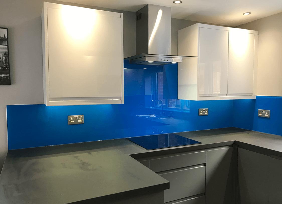 Preston Blue Glass Splashbacks