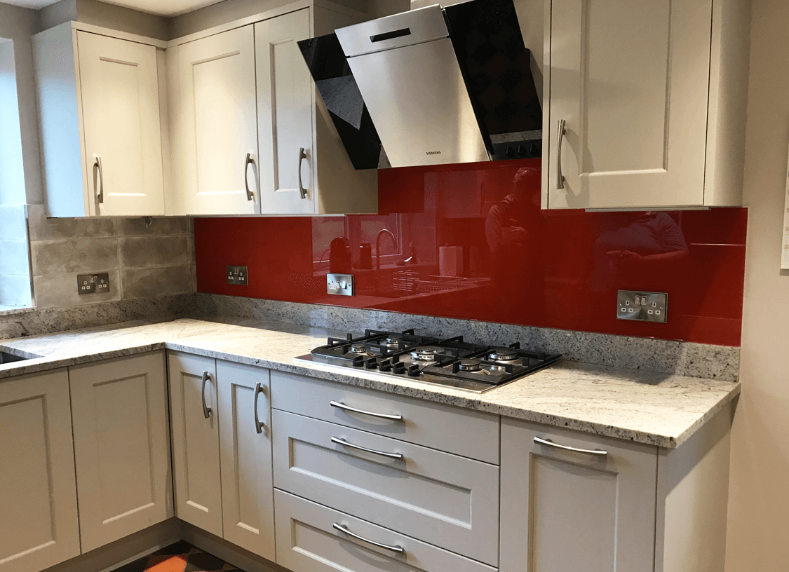 Barn Red Glass Splashback