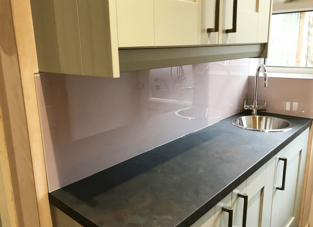 Dulux Dusted Fondant Glass Splashback Glass Splashbacks