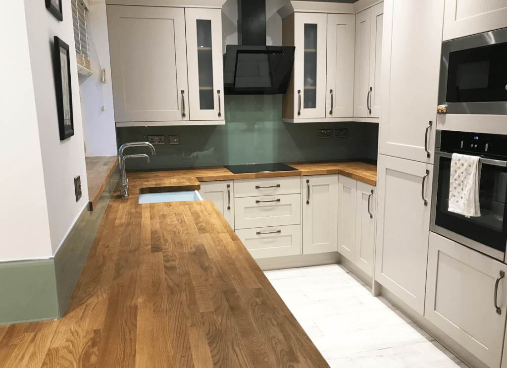 Farrow and Ball Vert de Terre Glass Splashback Glass Splashbacks